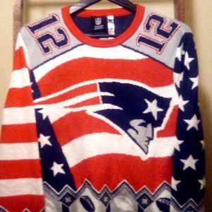 Men's NFL Apparel Tom Brady Patriots Sweater med.